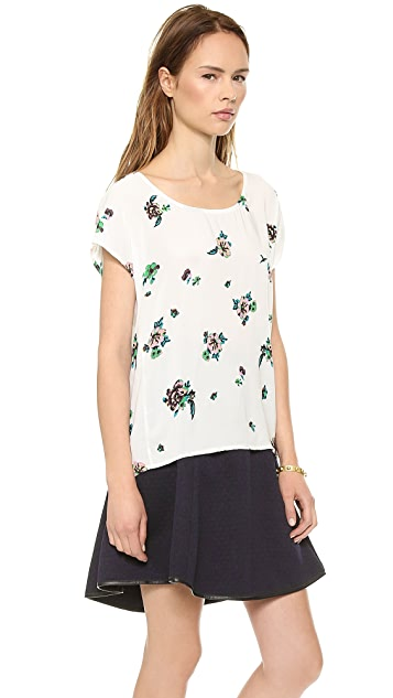 Splendid Ashbury Blooms Split Back Top