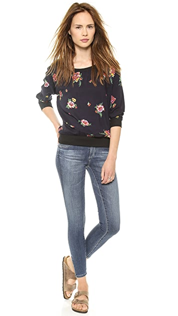 Splendid Ashbury Blooms Woven Top