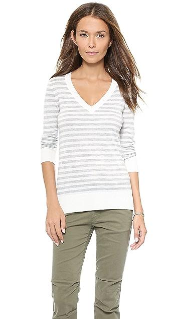 Splendid Striped V Neck Sweater