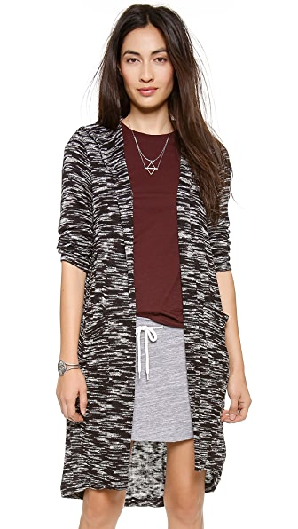 Splendid Carlow Loose Knit Hooded Cardigan