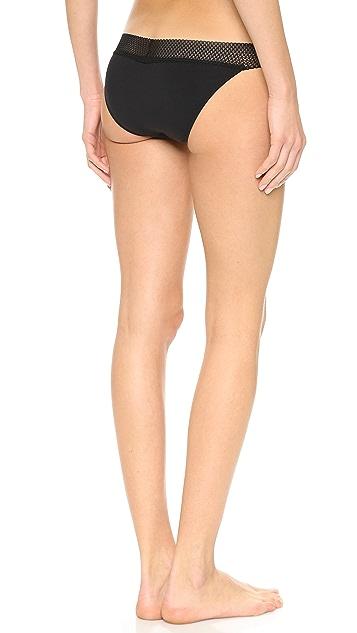 Splendid Mesh Lace Bikini Briefs