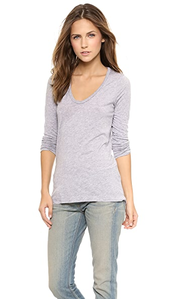 Splendid Light Jersey Scoop Neck Long Sleeve Tee