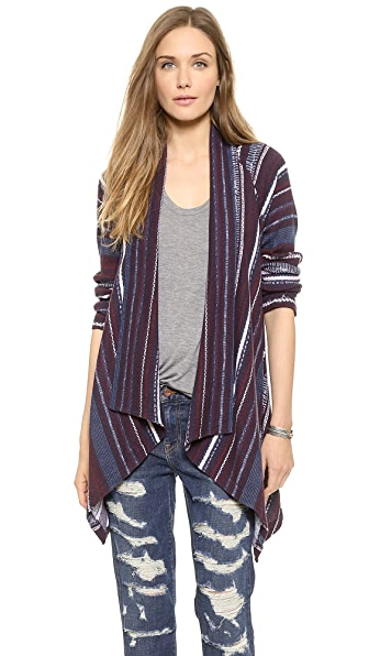 Splendid Bowery Street Printed Thermal Cardigan