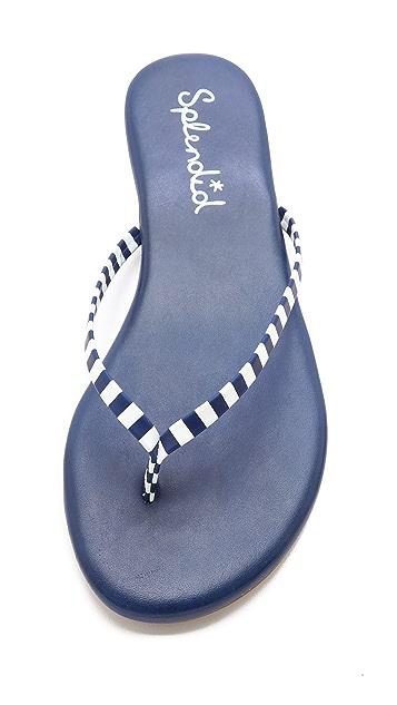 Splendid Madrid Striped Flip Flops