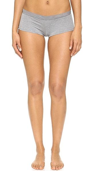 Splendid Mesh Girl Shorts - Medium Marled Heather
