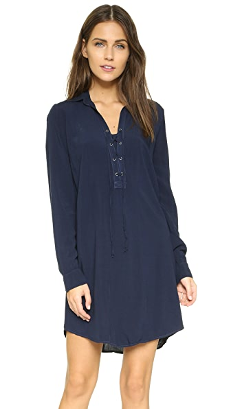Splendid Lace Up Tunic Dress