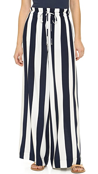 Splendid Capistan Rugby Stripe Drawstring Pants - Navy/White
