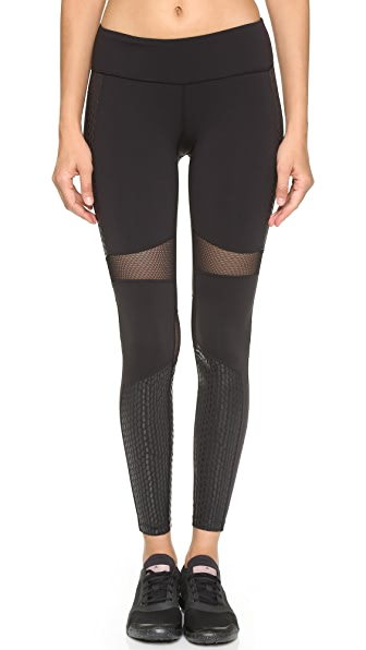 Splits59 Kym Noir Snake Print Performance Leggings