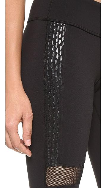 Splits59 Kym Noir Snake Print Performance Leggings