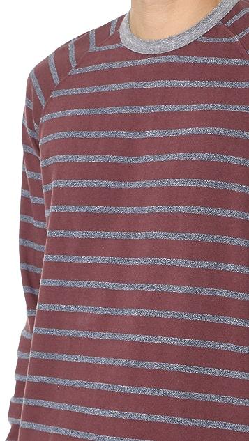Splendid Mills Venice Stripe Long Sleeve Raglan Crew Tee
