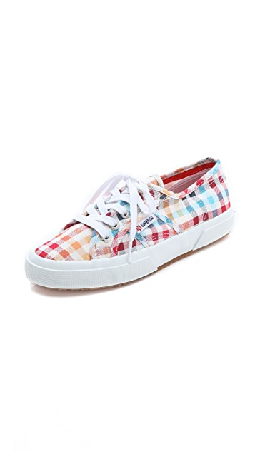 Superga Madras Lace Up Sneakers