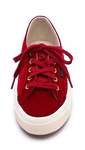 Superga The Man Repeller X Superga Velvet Classic Sneaker