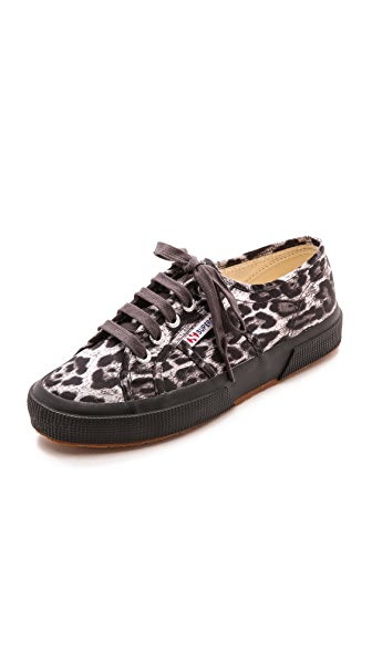 Superga 2750 Satin Leopard Sneakers
