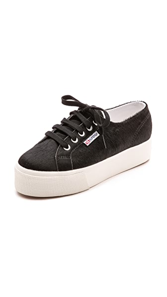 Superga 2790 Haircalf Platform Sneakers