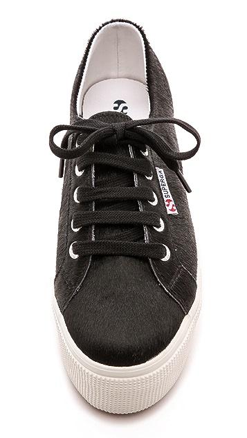 Superga 2790 Haircalf Platform Sneakers