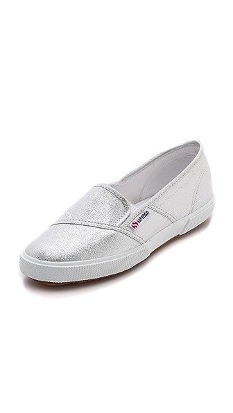 Superga Lame Slip On Sneakers
