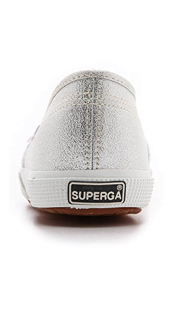 Superga Lame Slip On Sneakers