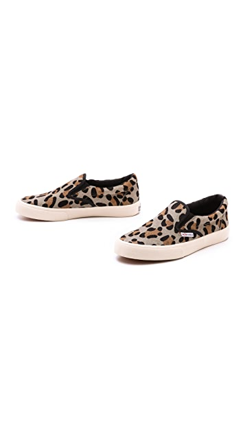 Superga Leopard Haircalf Slip On Sneakers