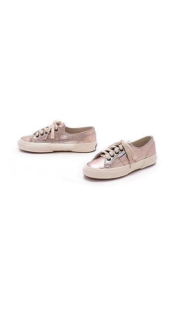 Superga Cotu Metallic Croc Sneakers