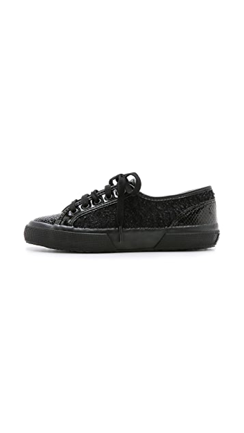 Superga Rodarte x Superga Tweed Croc Sneakers