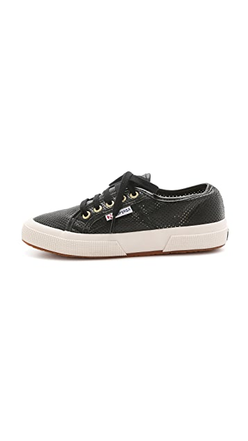 Superga Perforated Leather Sneakers
