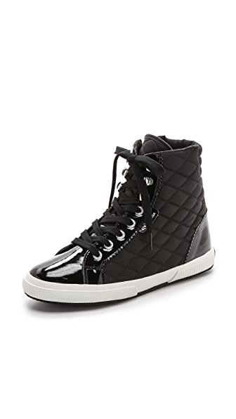 Superga Quilted High Top Sneakers