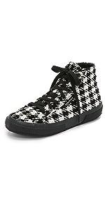 2795 Houndstooh High Top Sneakers                Superga