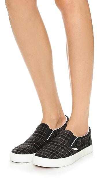 Superga 2311 Wool Plaid Slip On Sneakers