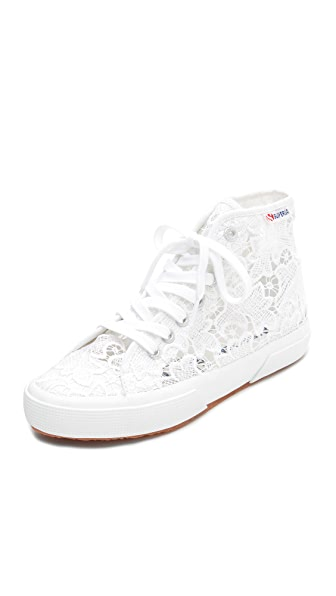 Superga Macrame High Top Sneakers