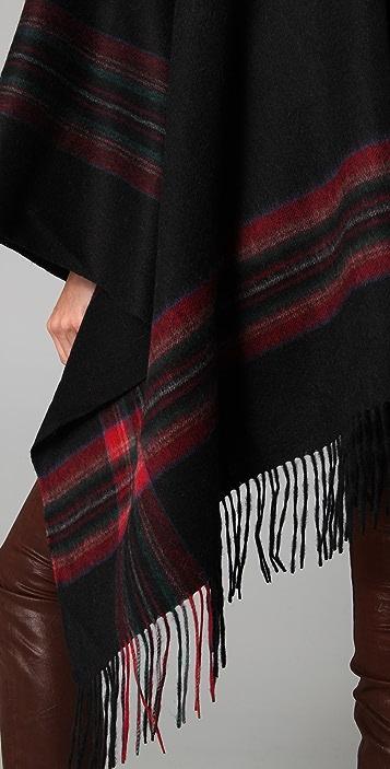 Spun Scarves by Subtle Luxury Plaid Poncho Scarf