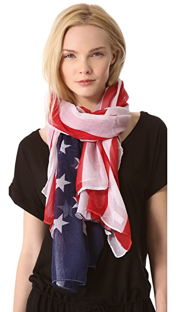 Spun Scarves by Subtle Luxury USA Flag Scarf
