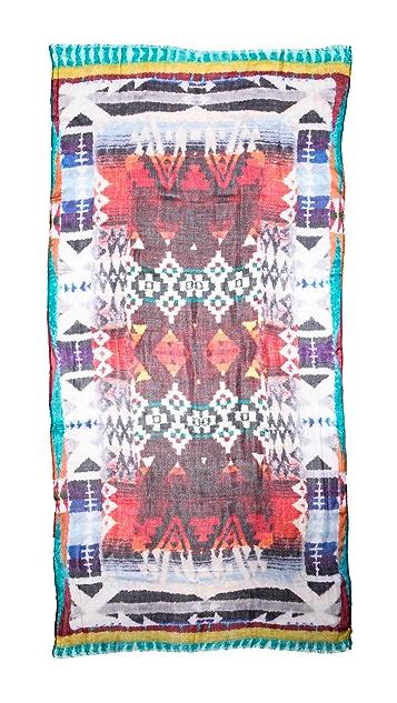 Spun Scarves by Subtle Luxury Tribal Haze Scarf