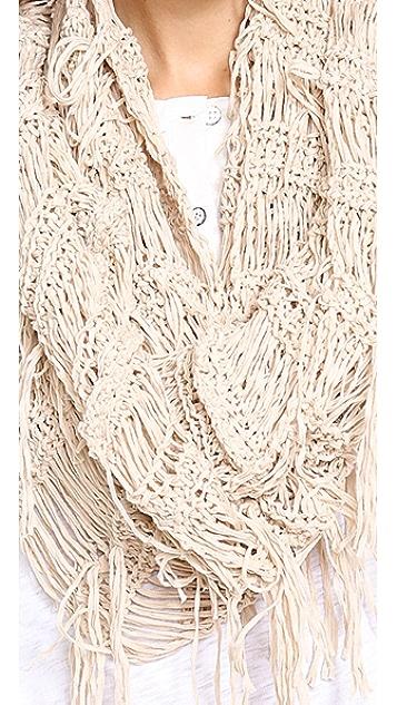 Spun Scarves by Subtle Luxury Fringe Vest Scarf