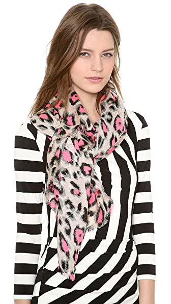 Spun Scarves by Subtle Luxury Vivid Leopard Scarf