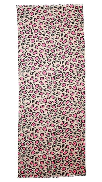 Spun Scarves by Subtle Luxury Vivid Leopard Scarf