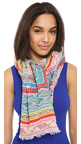 Spun Scarves by Subtle Luxury Embroidered Fiesta Scarf