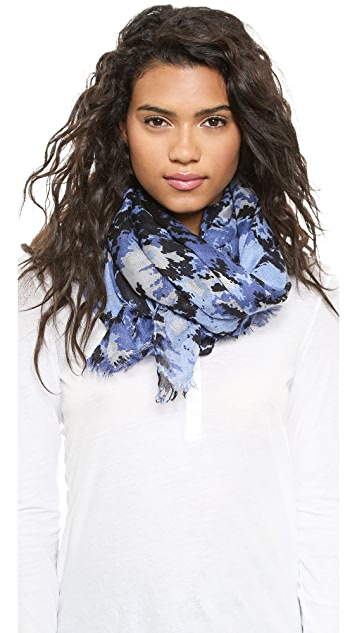 Spun Scarves by Subtle Luxury Reduction Dye Scarf