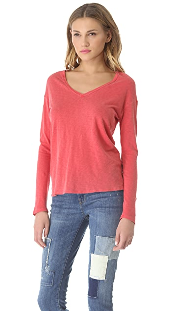 Stateside Long Sleeve V Neck Tee