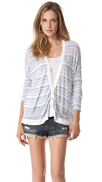 Stateside Striped Slub Cardigan