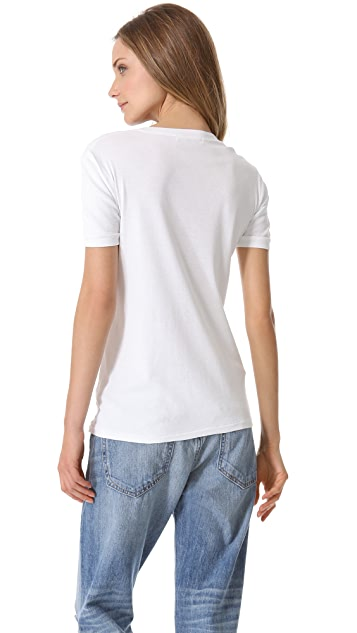 Stateside 1x1 Rib Short Sleeve Henley