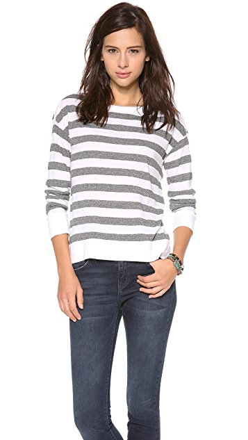 Stateside Boatneck Rugby Stripe Tee