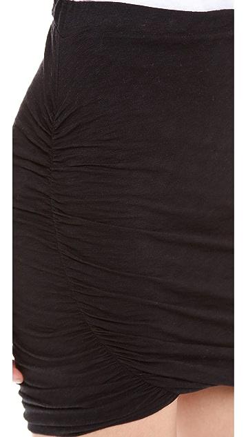 Stateside Twisted Slub Miniskirt