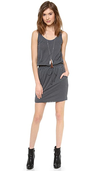 Stateside Slub Drawstring Tank Dress