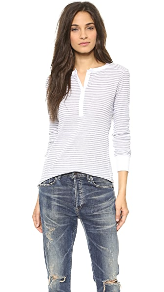 Stateside Skinny Stripe Thermal Henley