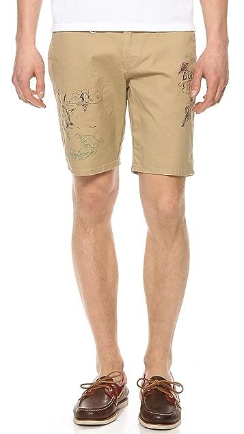 Scotch & Soda Pleated Chino Shorts
