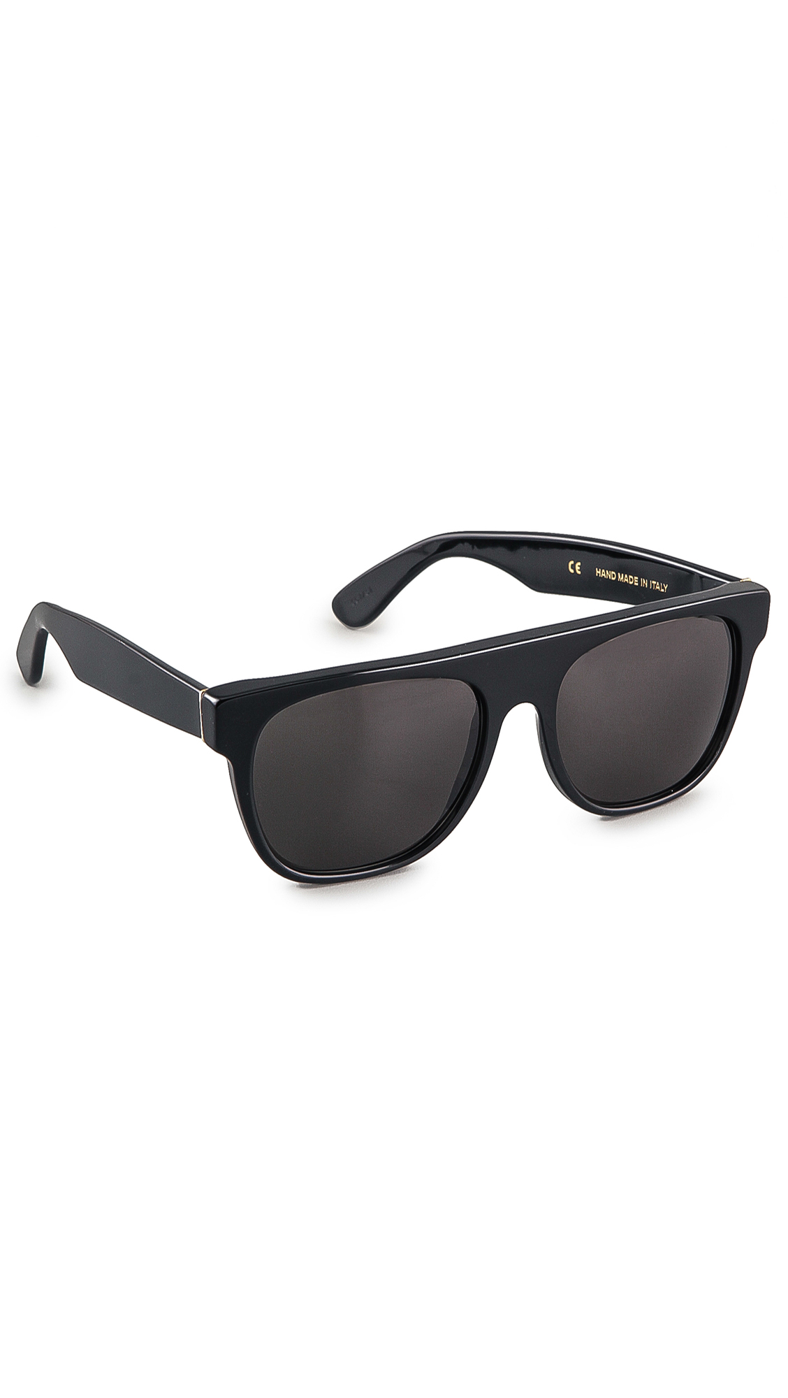 Super Sunglasses Flat Top Large Sunglasses