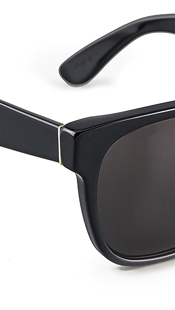 Super Sunglasses Flat Top Large Sunglasses