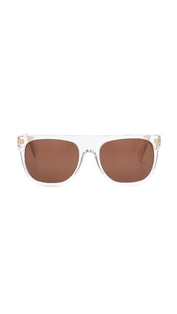 Super Sunglasses Crystal Francis Flat Top Sunglasses