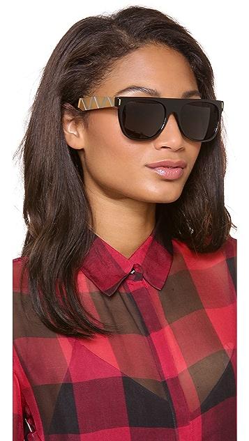 Super Sunglasses Flat Top Saldatura Sunglasses