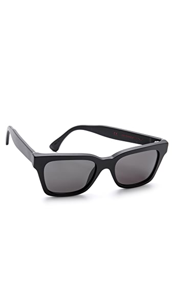 Super Sunglasses America Black Matte Sunglasses